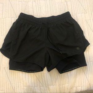 Athleta 2 in 1 running shorts. Size M